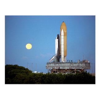 NASA Space Shuttle Atlantis STS-86 Launch Rollout Postcard