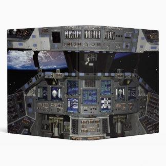 NASA Space Shuttle Cockpit Earth Orbit Window View 3 Ring Binder