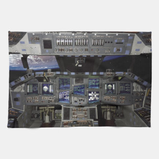 NASA Space Shuttle Cockpit Earth Orbit Window View Hand Towel