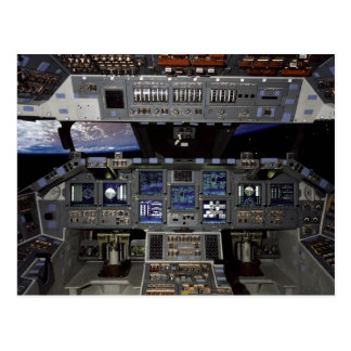 NASA Space Shuttle Cockpit Earth Orbit Window View Postcard