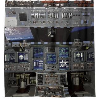 NASA Space Shuttle Cockpit Earth Orbit Window View Shower Curtain