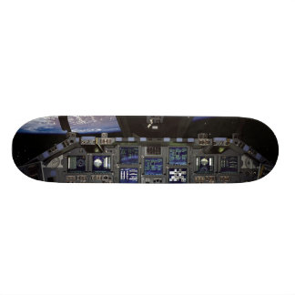 NASA Space Shuttle Cockpit Earth Orbit Window View Skateboard