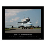 NASA Space Shuttle Discovery hitch ride on Boeing Print