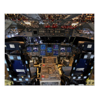 NASA Space Shuttle Endeavour Flight Deck Cockpit Poster