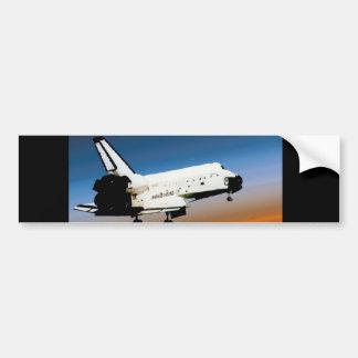 NASA SPACE SHUTTLE FLYING INTO COCOA BEACH BUMPER STICKER