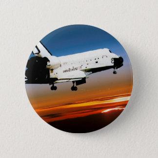NASA SPACE SHUTTLE FLYING INTO COCOA BEACH BUTTON