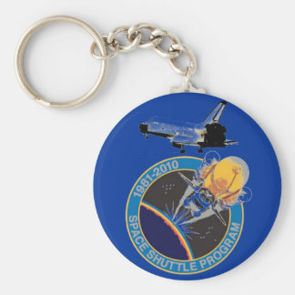 NASA Space Shuttle Program Basic Round Button Keychain