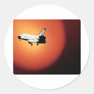 Nasa Space Shuttle Sun Classic Round Sticker