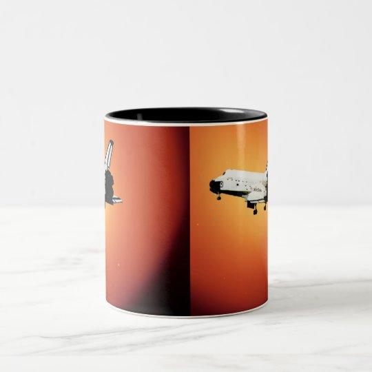 Nasa Space Shuttle Sun Two-Tone Coffee Mug