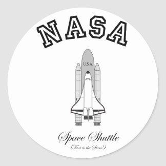 NASA Space Shuttle: Taxi to the Stars! Classic Round Sticker
