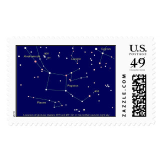 NASA Star Map Postage