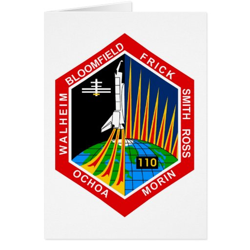 NASA STS-110 Shuttle Mission Patch Card