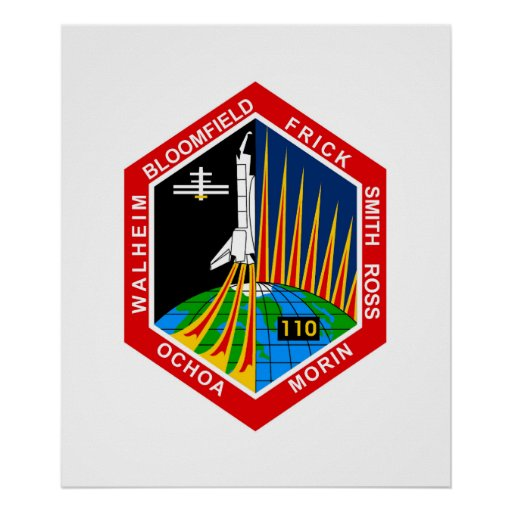 NASA STS-110 Shuttle Mission Patch Poster