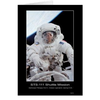 NASA STS-111 de Felipe Perrin del astronauta Tarjeta De Felicitación
