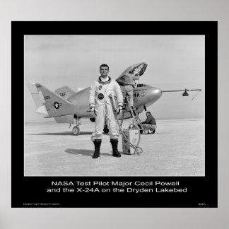 NASA Test Pilot Major Cecil Powell Poster