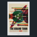 "NASA - The Grand Tour - Retro Travel Poster<br><div class=""desc"">The Grand Tour image is a continuation of the JPL's Exoplanet Travel Bureau Series.  Get set for a fantastic multi-planet tour including Jupiter,  Saturn,  Uranus,  and Neptune. Credit NASA/JPL-Caltech.</div>"
