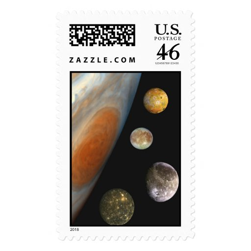 NASA / The Jovian System. Postage Stamps