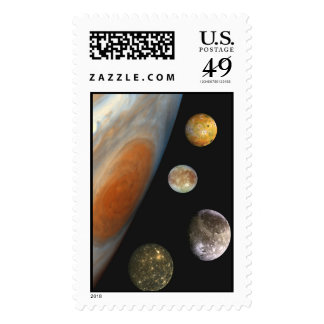 NASA / The Jovian System. Postage Stamp