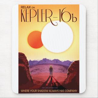 NASA Travel Poster - Relax on Kepler 16b Mouse Pad