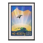 NASA Travel Poster - Super Earth Canvas Print