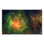 NASA trífida Spitzer de la nebulosa Impresion Fotografica