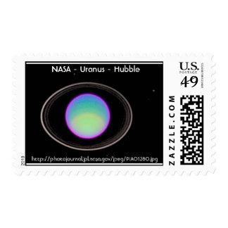 NASA - Urano - Hubble Estampilla