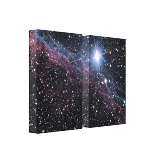 NASA Veil Nebulae Canvas Wrapped Print