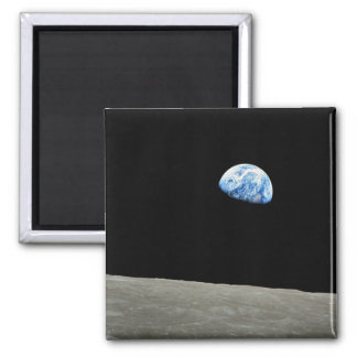 NASA - View from Apollo8, Dec24, Earthrise 2 Inch Square Magnet