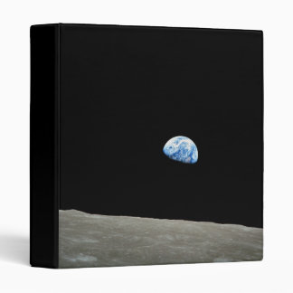 NASA - View from Apollo8, Dec24, Earthrise 3 Ring Binder