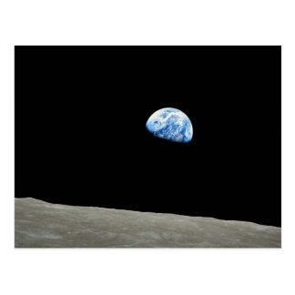 NASA - Visión desde Apollo8, Dec24, Earthrise Tarjeta Postal