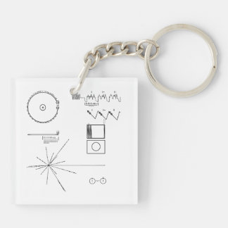 NASA Voyager Golden Record Double-Sided Square Acrylic Keychain
