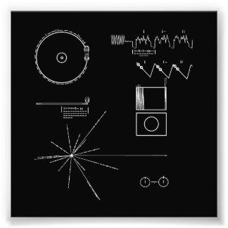 NASA Voyager Golden Record Photographic Print
