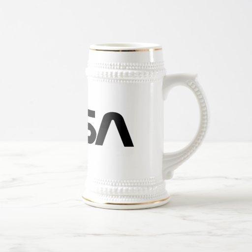 NASA Worm Logo 18 Oz Beer Stein
