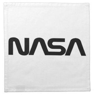 NASA Worm Logo Cloth Napkin
