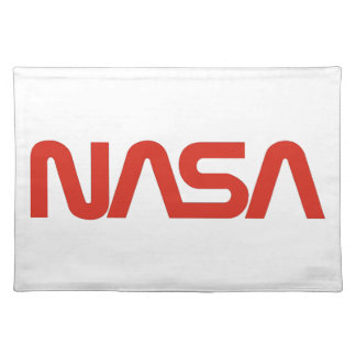 NASA Worm Logo Cloth Placemat