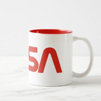 NASA Worm Logo Two-Tone Coffee Mug