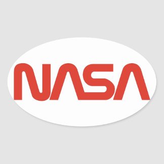 NASA Worm Logo Oval Sticker