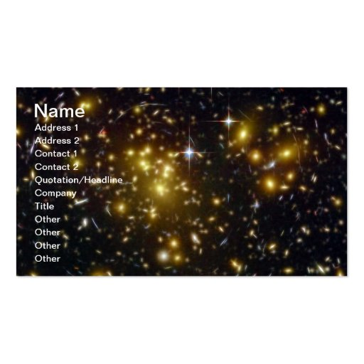 NASAs Abell Double-Sided Standard Business Cards (Pack Of 100)