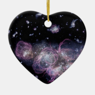 NASAs Baby Galaxy in a Grown-Up Universe Ceramic Ornament