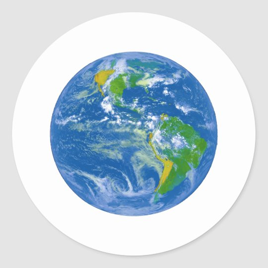 NASAs Big Blue Marble Classic Round Sticker