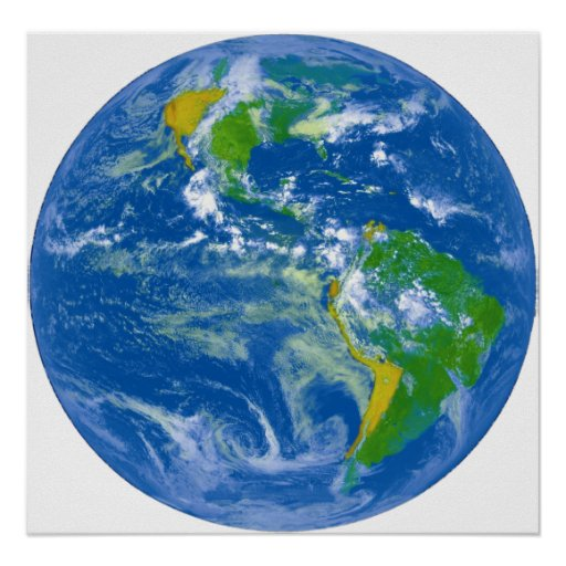 NASAs Big Blue Marble Poster