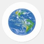 NASAs Big Blue Marble Round Stickers
