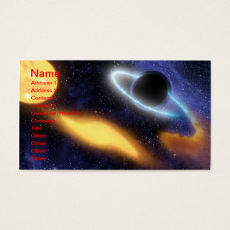 NASAs Black hole PIA01884 Business Card