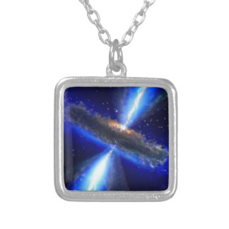 NASAs Black Hole Square Pendant Necklace