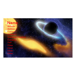 NASAs Black holes grabs starry snack Business Cards