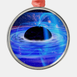 Nasa's Blue Black Hole Metal Ornament