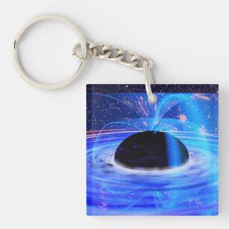 Nasa's Blue Black Hole Single-Sided Square Acrylic Keychain