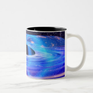 Nasa's Blue Black Hole Two-Tone Coffee Mug