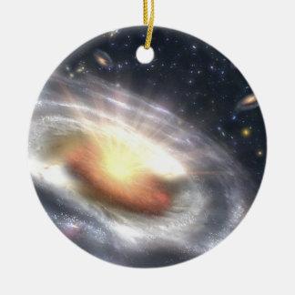 NASAs Bursting with Stars and Black Holes Ceramic Ornament