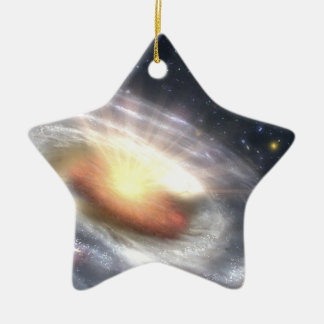 NASAs Bursting with Stars and Black Holes Double-Sided Star Ceramic Christmas Ornament